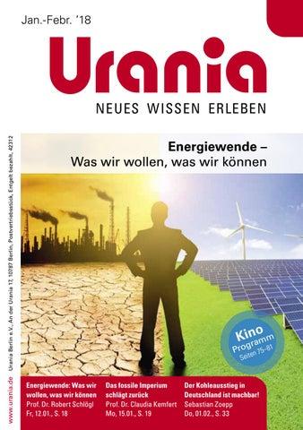 Urania-Programmheft Januar und Februar 2018 by Urania Berlin - issuu