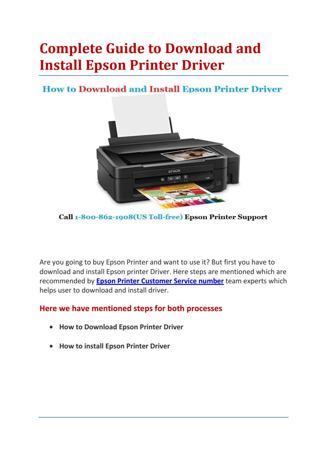 Complete guide to download and install epson printer driver