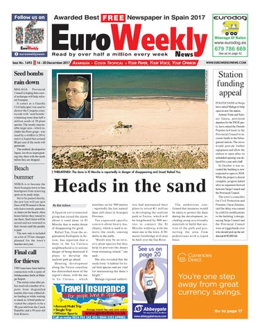 327ff4a04d5 Euro Weekly News - Axarquia 14 – 20 December 2017 Issue 1693 by Euro ...