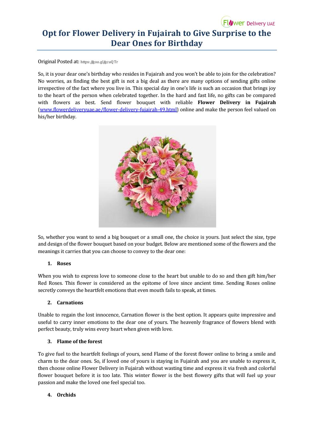 Opt for flower delivery in fujairah to give surprise to the dear opt for flower delivery in fujairah to give surprise to the dear ones for birthday by flower delivery uae issuu izmirmasajfo