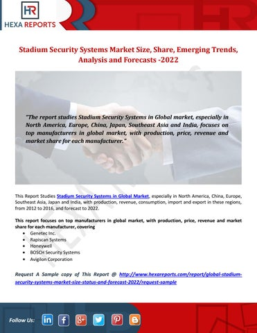 Stadium security systems market size, share, emerging trends