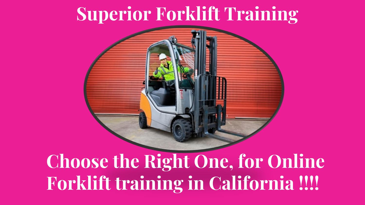 Choose the right one for online forklift training in california choose the right one for online forklift training in california by superior forklift training issuu xflitez Images
