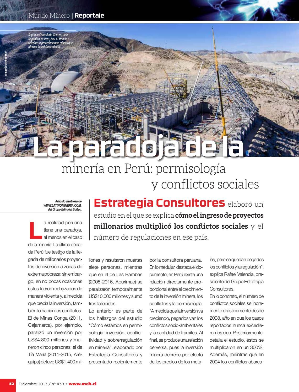 15445024 Revista MINERÍA CHILENA 438 / Diciembre 2017 by Editec - issuu