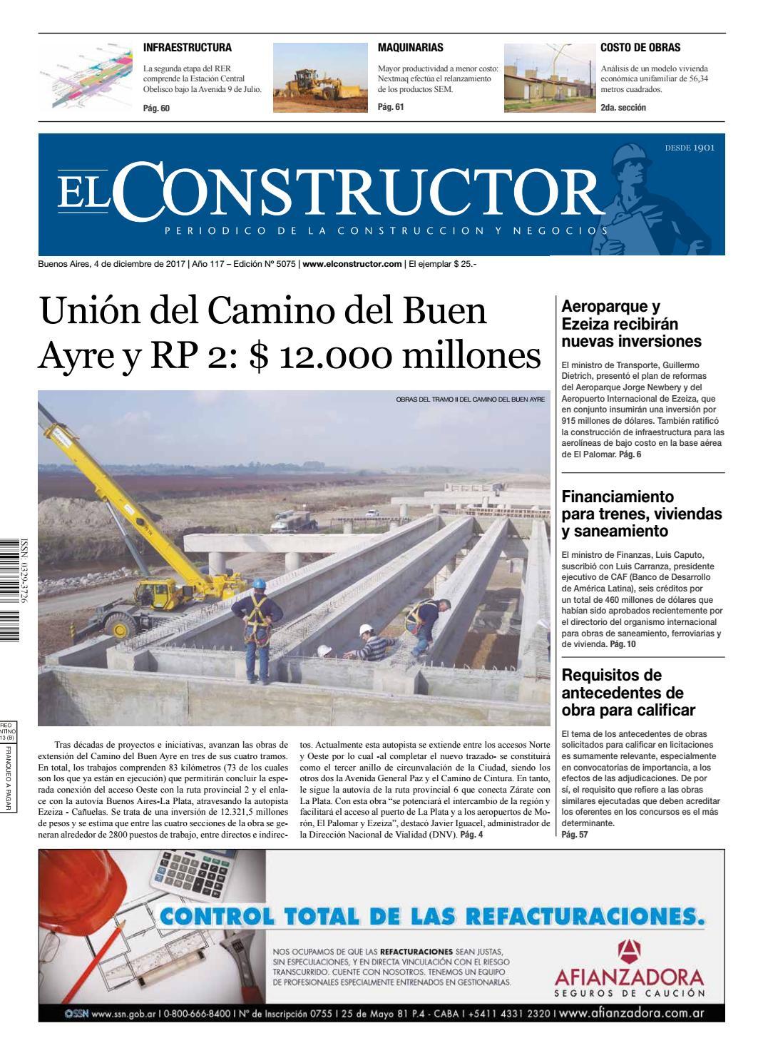 El Constructor 4/12/2017 - N° 5075 Año 117 by ELCO Editores - issuu