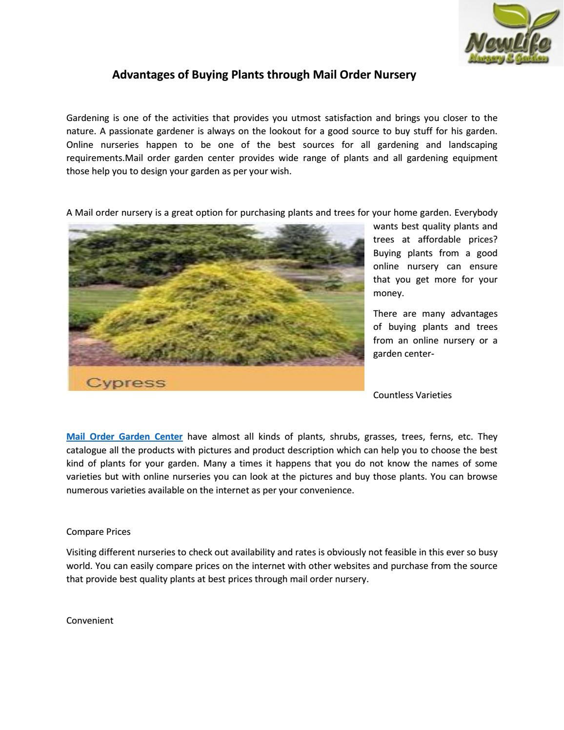 Advantages Of Ing Plants Through Mail Order Nursery By Newlifenursery1 Issuu