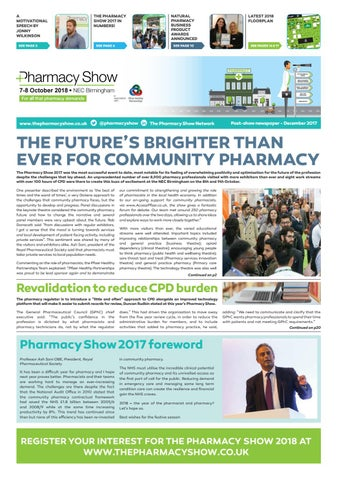 2017 Pharmacy Show Newspaper - December edition by CloserStill Media