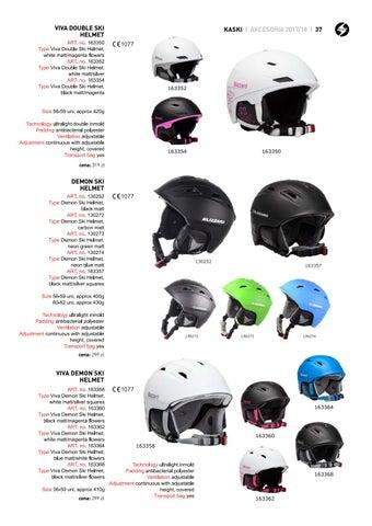 3554c2399 170005 Type Double Visor Ski Helmet, black matt VIVA DOUBLE SKI ART. no.  170020 HELMET Type Double Visor Ski Helmet, black matt/neon orange Size  56-59 uni, ...