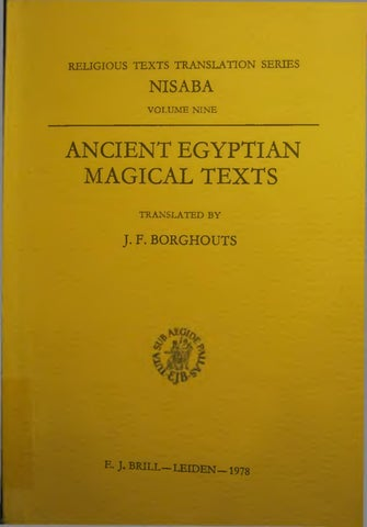 Ancient egyptian magical texts by Samuel Alejandro - issuu
