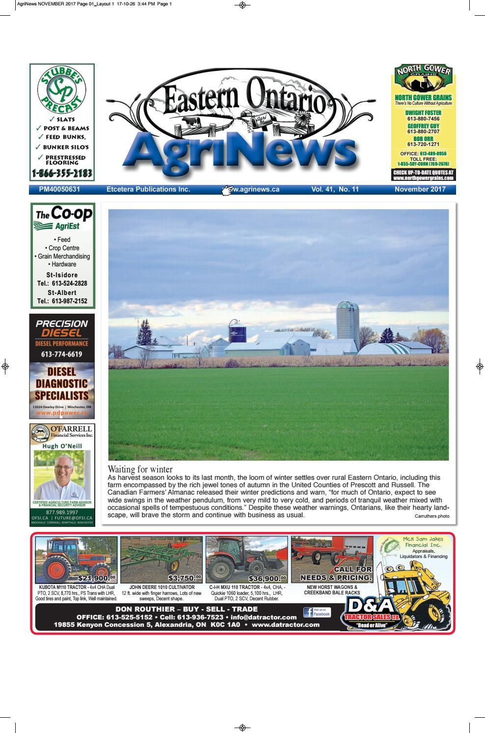 Agrinews November 2017 by Robin Morris issuu