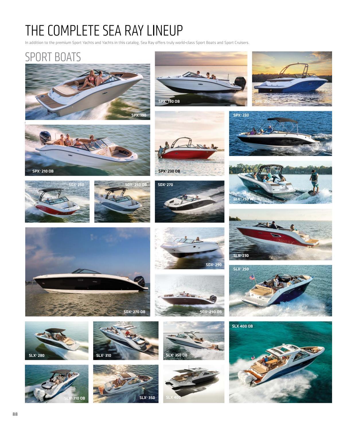 2018 Sea Ray Sport Yachts Catalog by Dino Marketing Group