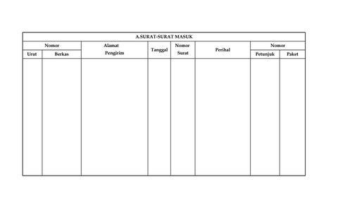 Administrasi Tata Usaha Tu Sekolah Buku Agenda Surat