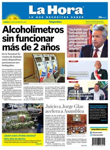 Tungurahua 15 de diciembre de 2017 by Diario La Hora Ecuador - issuu 3e5f52604b9