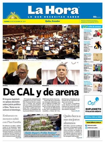 6b98dfba91458 Quito 15 de diciembre de 2017 by Diario La Hora Ecuador - issuu