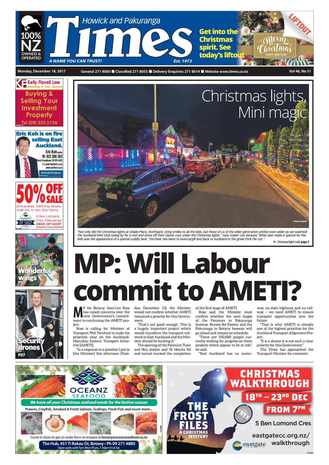 Howick and Pakuranga Times 18 December 2017 by Times Media