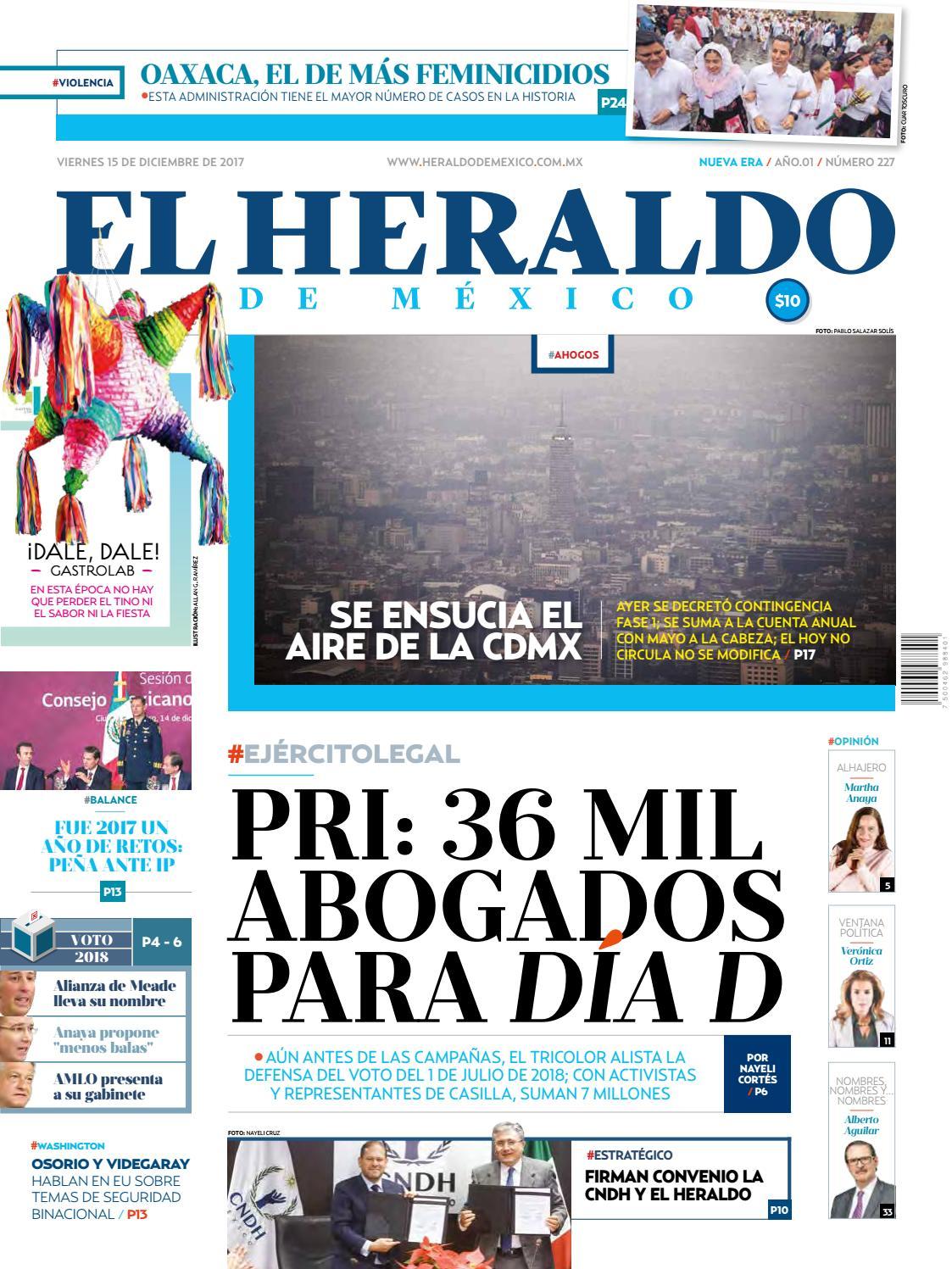 El Heraldo de México 15 de diciembre del 2017 by El Heraldo de México -  issuu