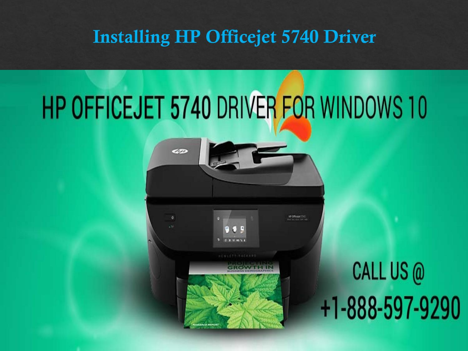 Setup your HP OfficeJet 5740 driver for Windows 10 by