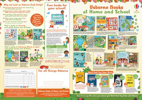 Home and School Spring Leaflet 2018 by Usborne Books at Home - issuu