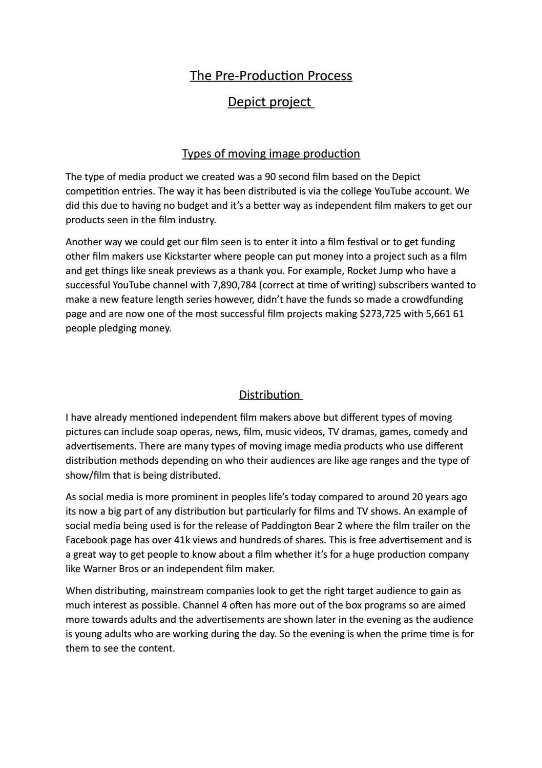 Essay on film industry as sociology essay plan
