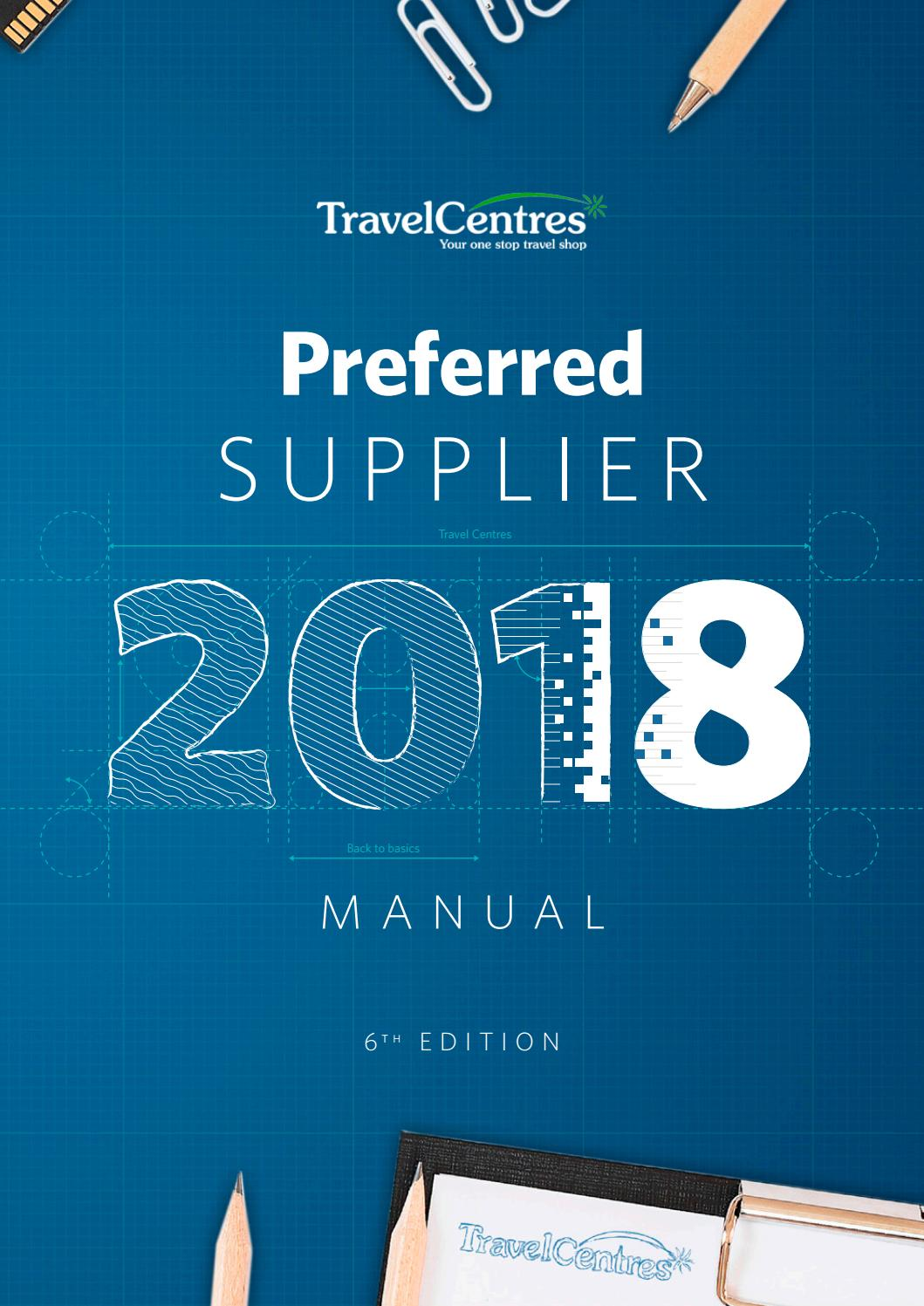 Travel Centres Preferred Supplier Manual 2018 by Travel
