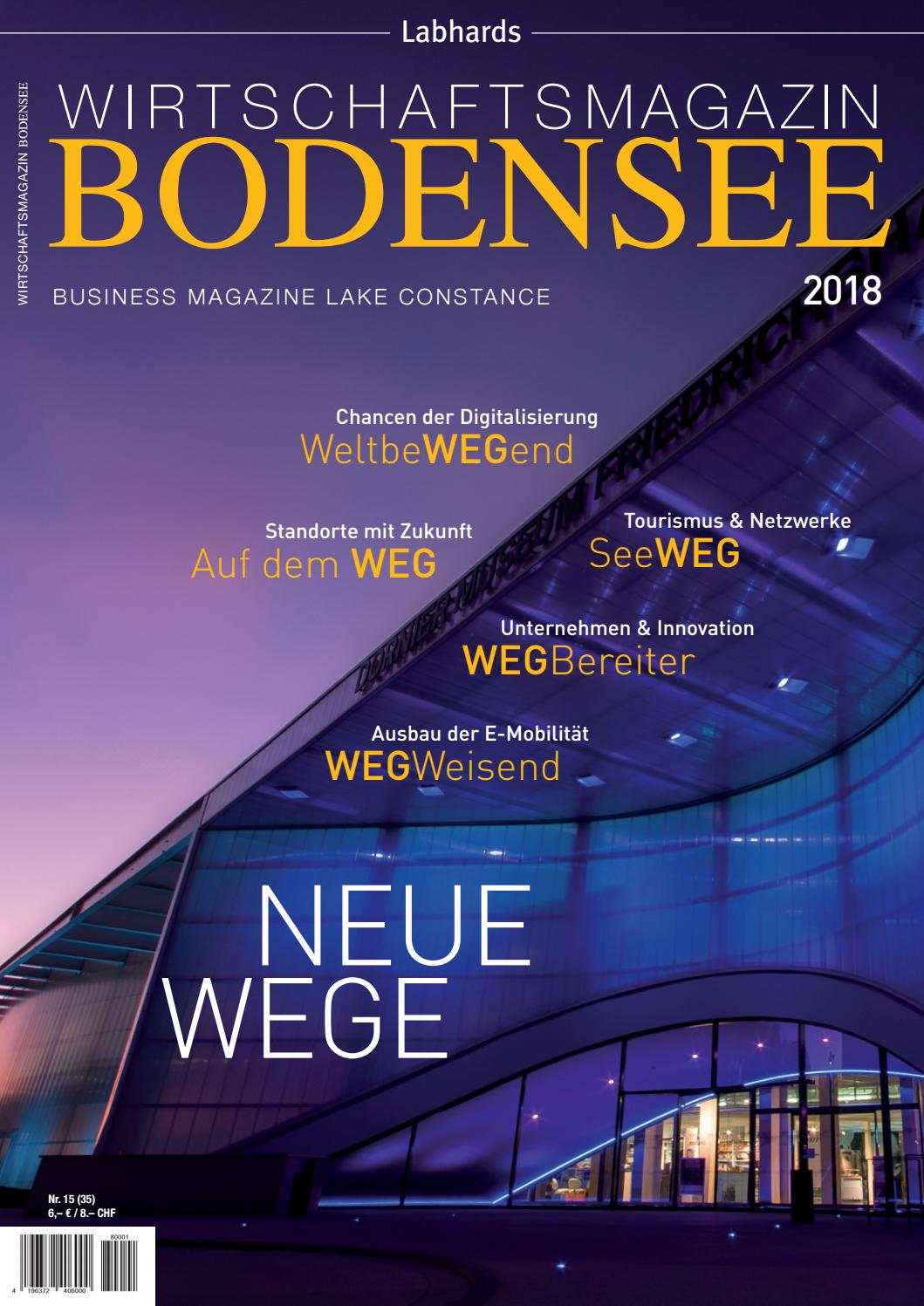 Wirtschaftsmagazin Bodensee 2018 By Labhard Medien Issuu