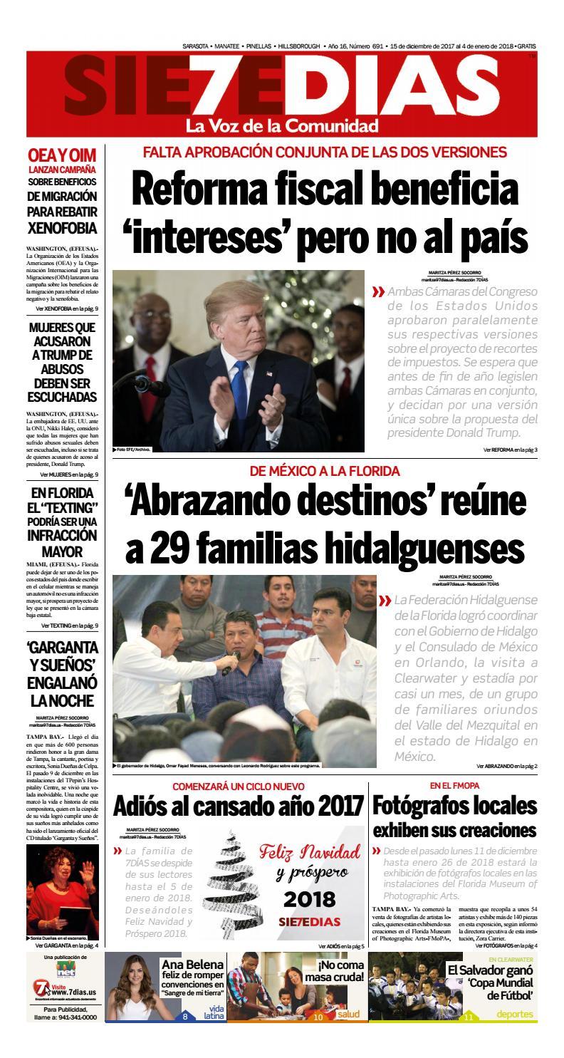 7d As Del 15 De Diciembre De 2017 Al 4 De Enero De 2018 By Tv  # Ozuna Muebles Posadas