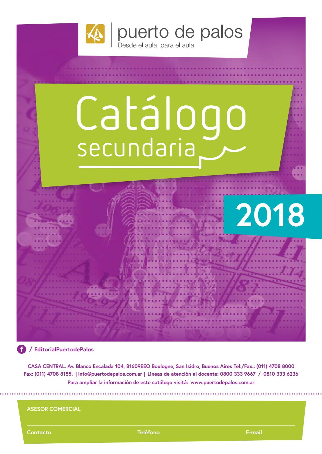 Catalogo secundaria 2018 Puerto by Macmillan Publishers S.A. - issuu