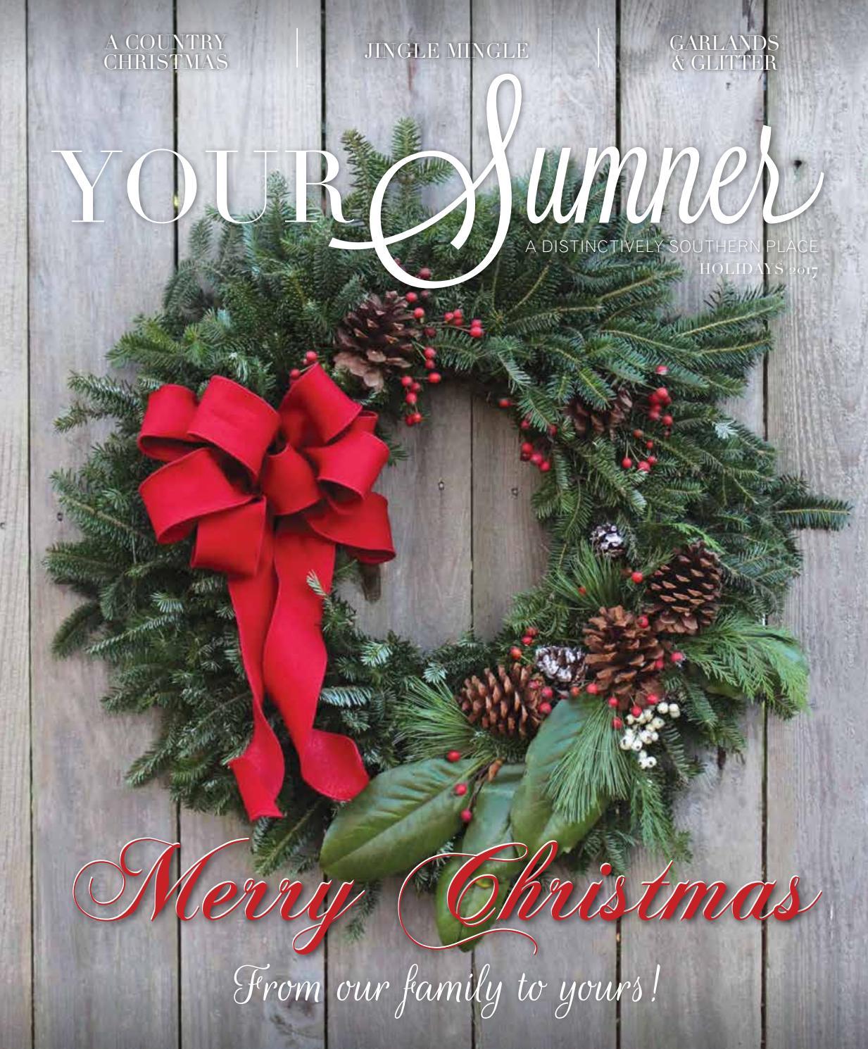 Claus LED Light Up Wreath /& Garland Byers Choice Merry /& Bright Santa /& Mrs