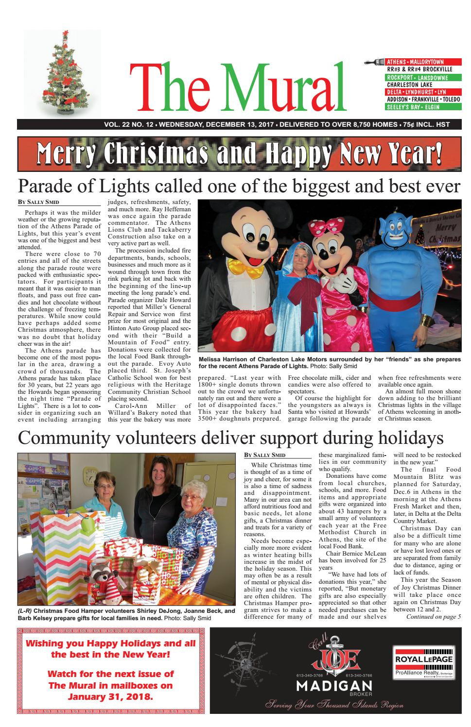 The Mural December 13, 2017 by The Mural - issuu