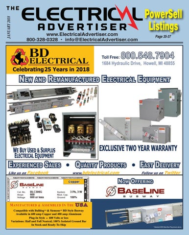 January 2018 Electrical Advertiser by Electrical Advertiser