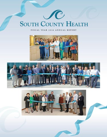 Fiscal Year 2016 South County Health Annual Report by