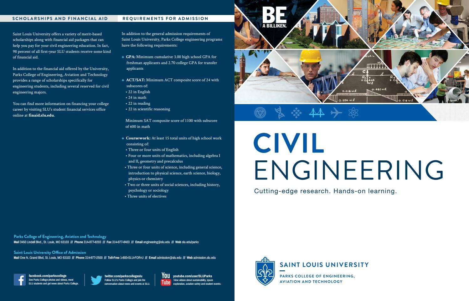 Department of Civil Engineering Brochure by Parks College of