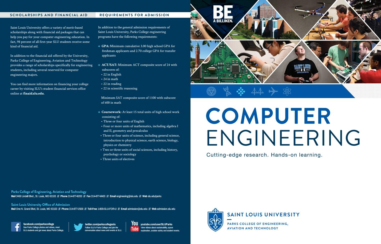 Department of Computer Engineering Brochure by Parks College of Engineering, Aviation and ...