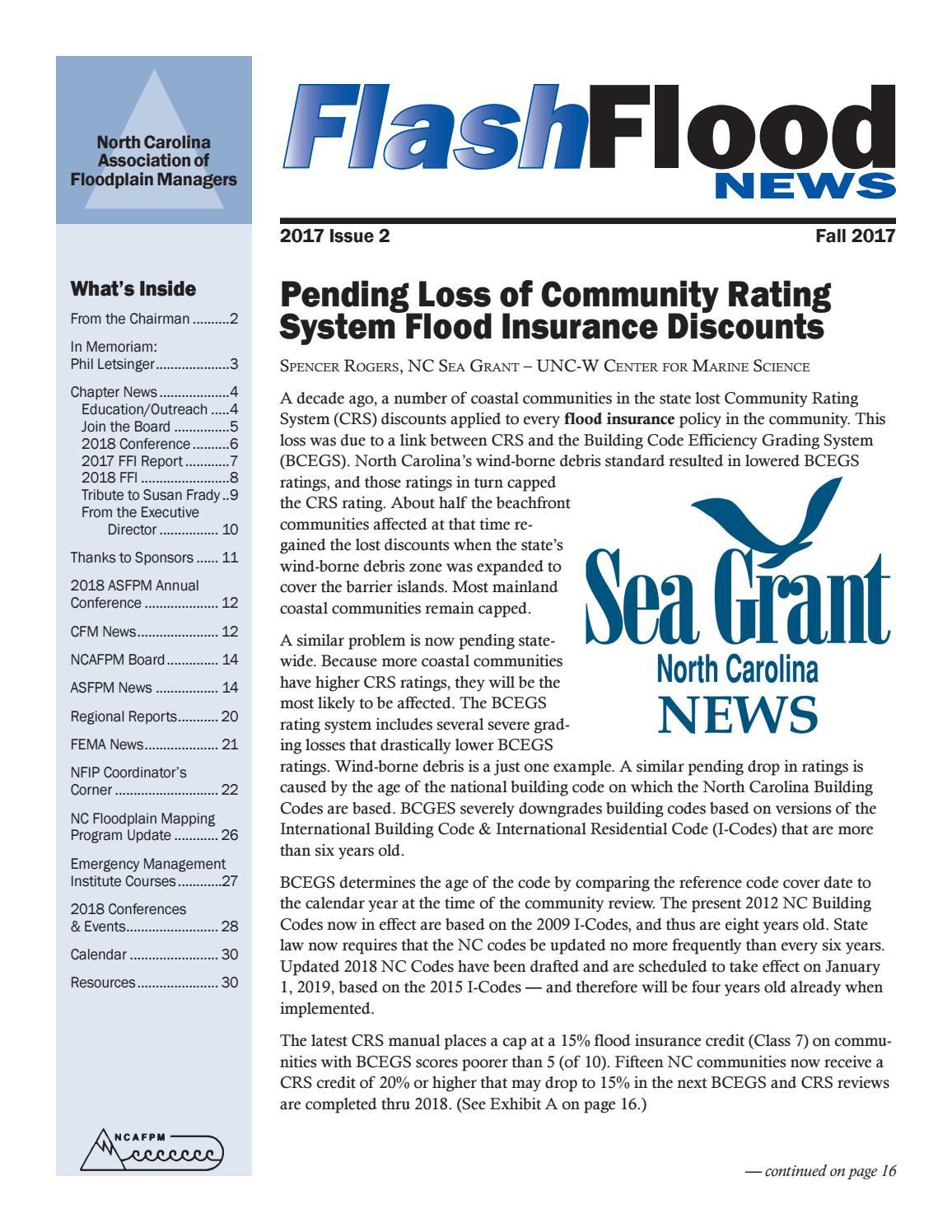 Flashflood News - Fall 2017 by North Carolina Association of