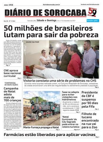 Sábado, 16 de dezembro by DIÁRIO DE SOROCABA - issuu 4568859076