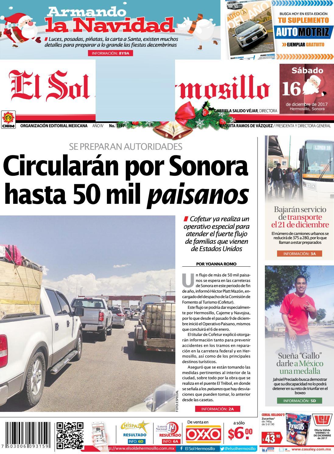 Edicion impresa 16 de diciembre by El Sol de Hermosillo - issuu