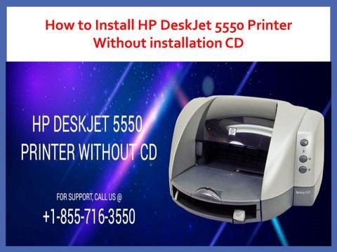 hp deskjet 5550 printer manual
