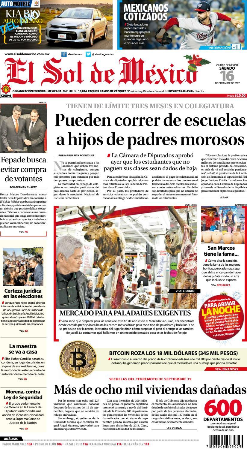 El Sol de México 16 de Diciembre de 2017 by El Sol de México - issuu e7123767652c4