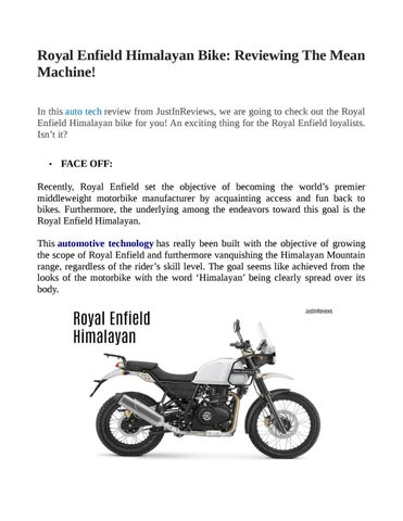 Royal Enfield Himalayan Bike By Sonali456 Issuu