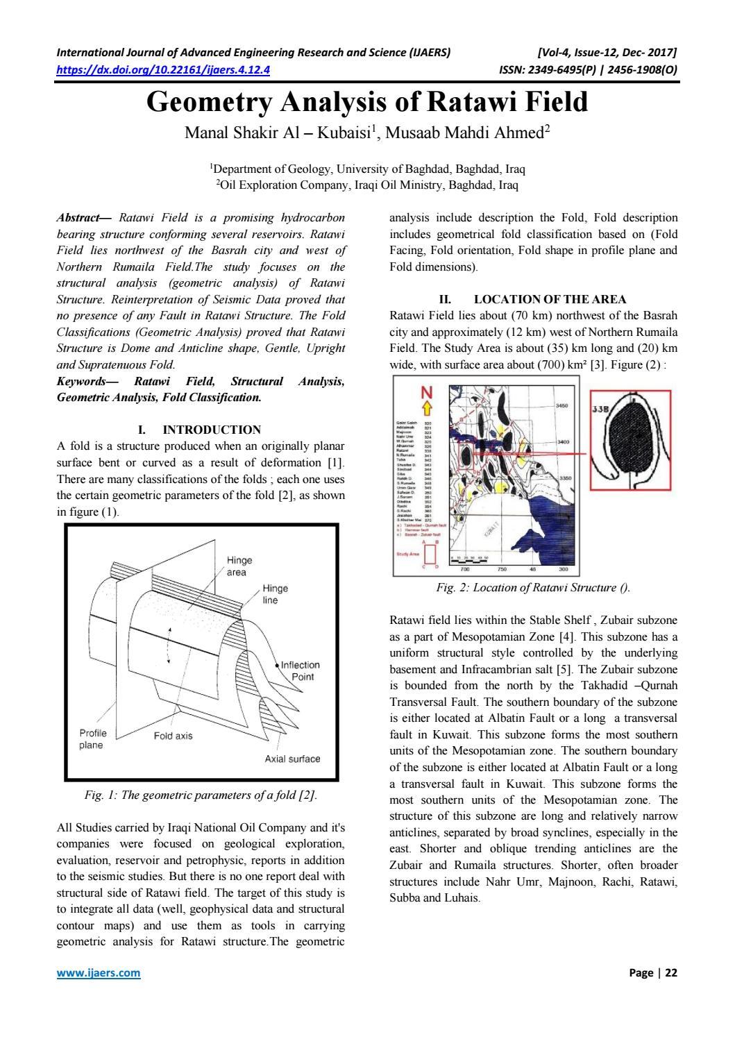 4 geometry analysis of ratawi field by IJAERS Journal - issuu
