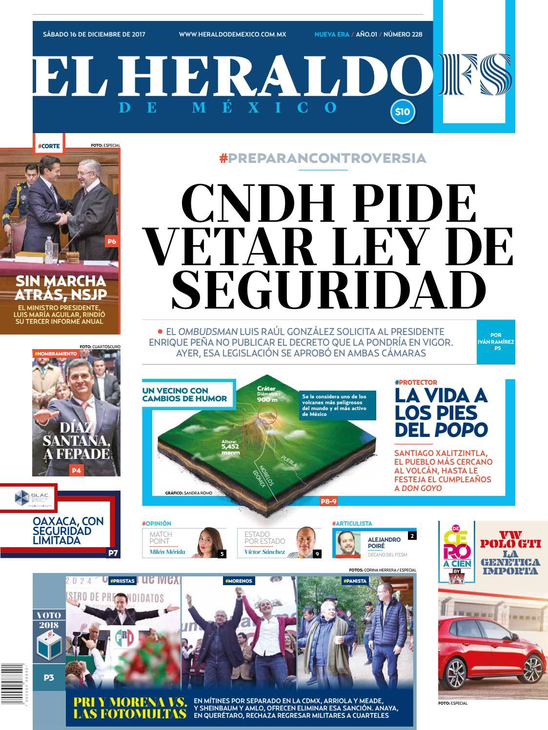 El Heraldo De M Xico 16 De Diciembre De 2017 By El Heraldo De  # Muebles Biturbo