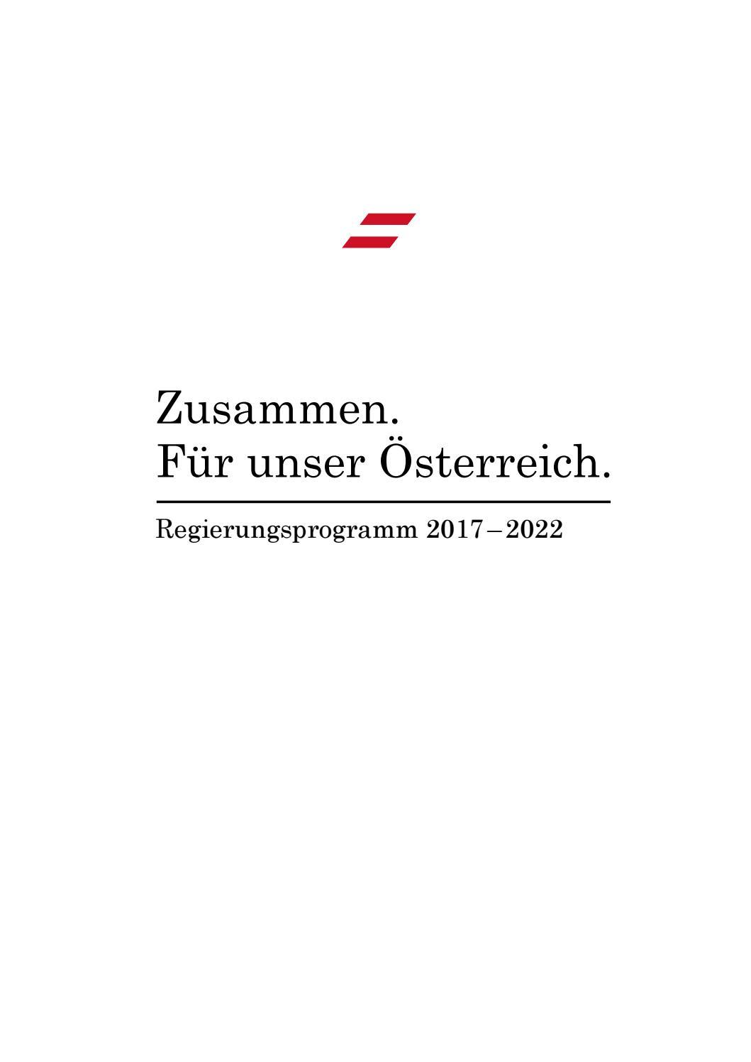 Regierungsprogramm by Sebastian Kurz - issuu