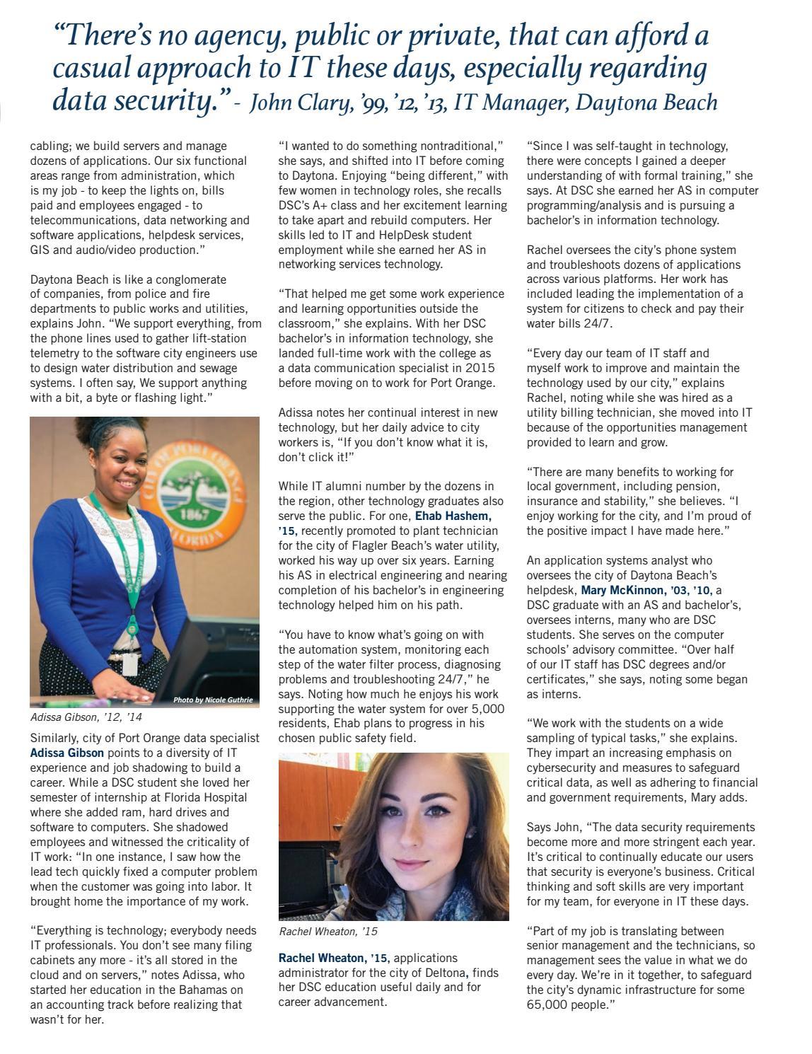 Daytona State College Magazine, Fall/Winter 2017 by Daytona State