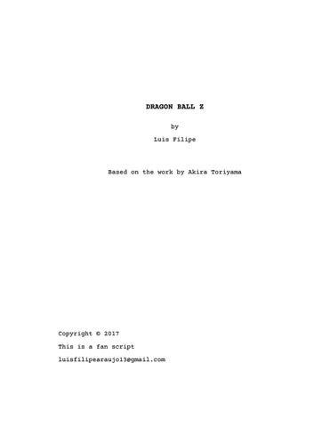 Dragon Ball Z (movie script) by Luis Filipe - issuu