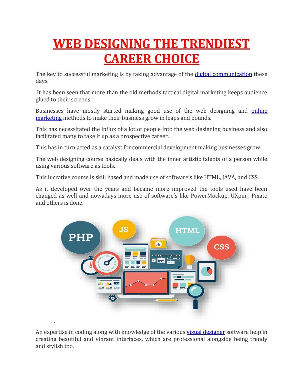 Web Designing The Trendiest Career Choice By Maac Animation Kolkata Issuu