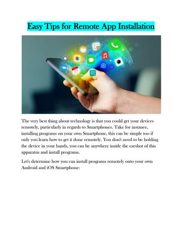 Easy tips for remote app installation by Marie Glass - issuu