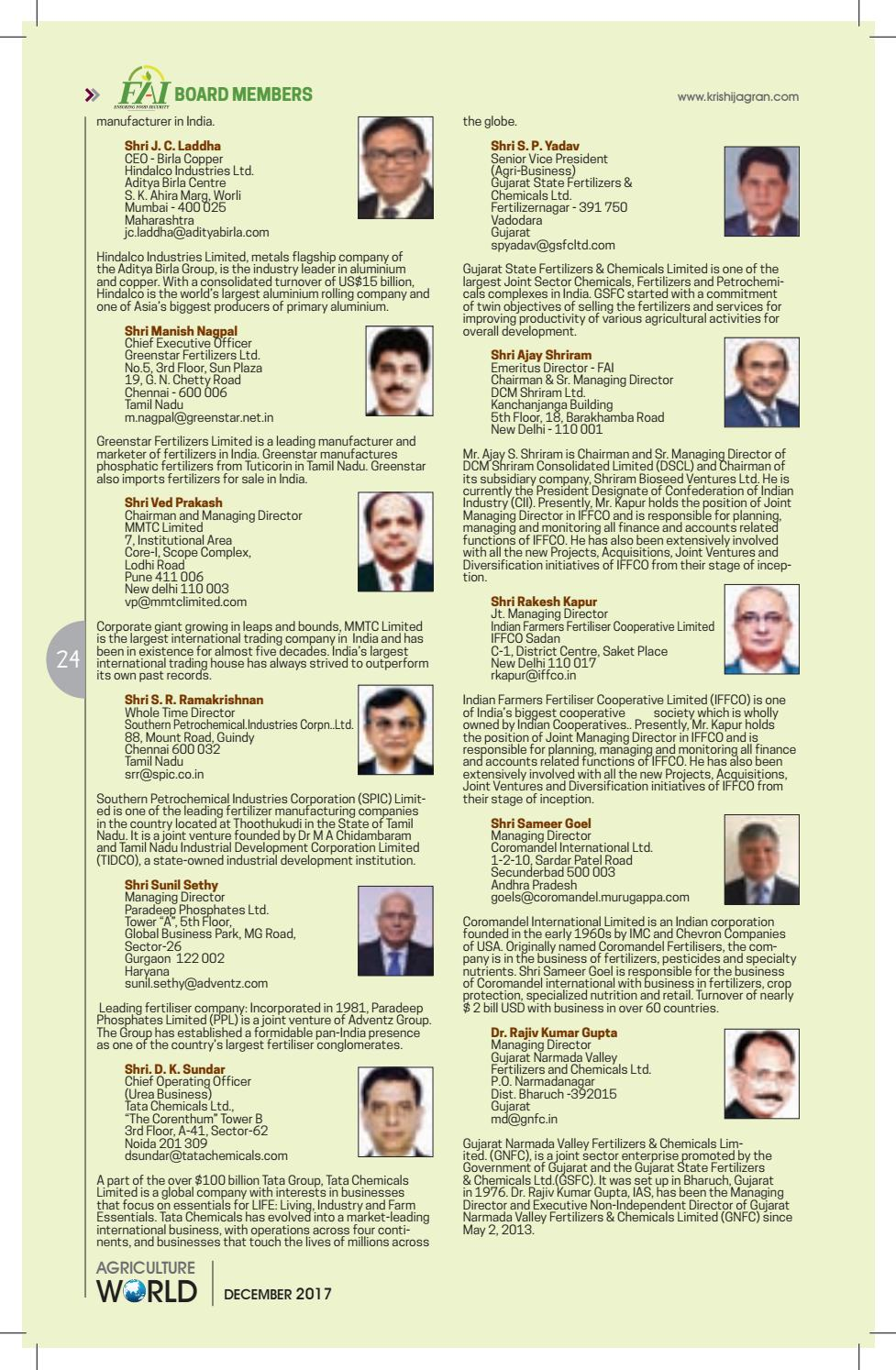 Agriculture world December 2017 by Krishi Jagran - issuu