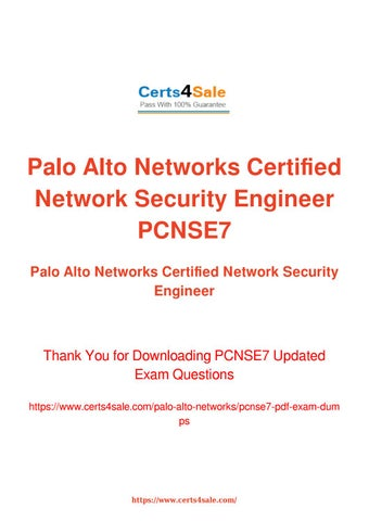 PCNSE7 Exam Questions - Palo Alto Networks Certified Network ...