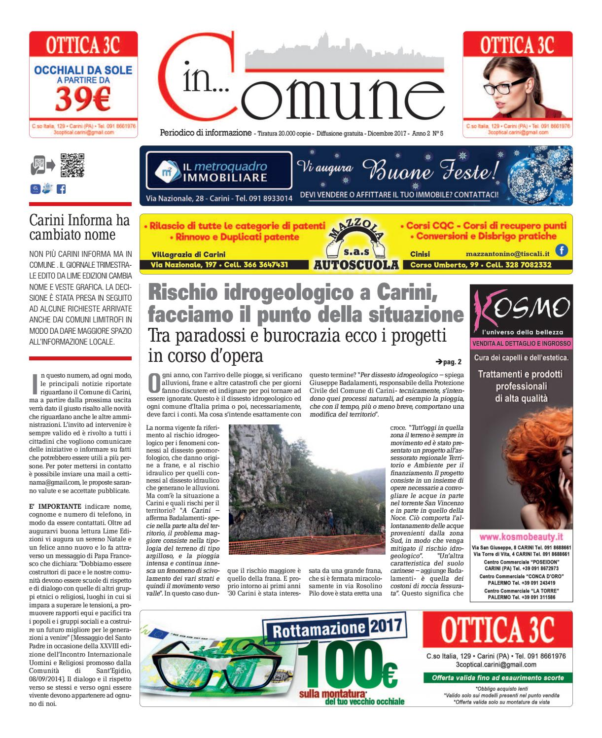 Calendario Raccolta Differenziata Carini 2019.In Comune Dicembre 2017 By Lime Edizioni Milano Issuu