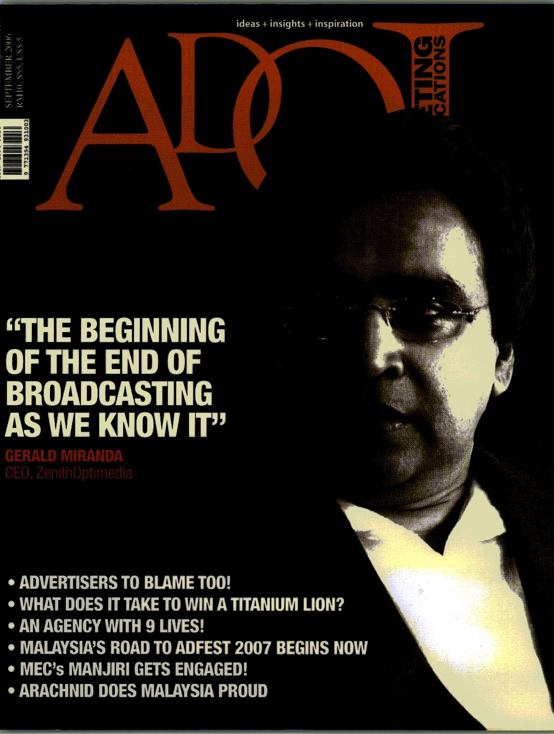 2006 Adoi Malaysia September Issue by Sledgehammer