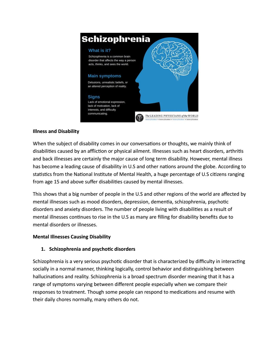 Illness and disability by leadingphysicianofworld - issuu